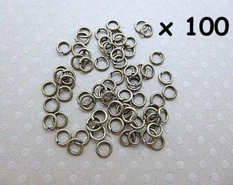 Lot de 100 anneaux ouverts bronze 4x0,7 mm - L1000518