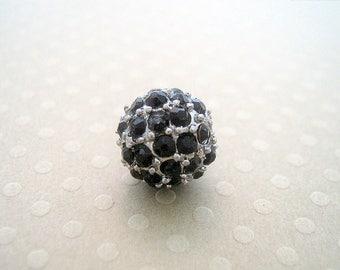 Shamballa black base metal 10 mm - SF11 0186