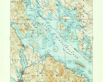 1909 Topo Map of Lake Winnipesaukee New Hampshire