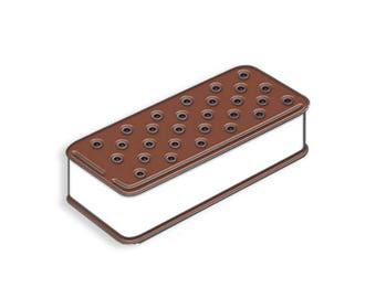 Ice Cream Sandwich Enamel Pin