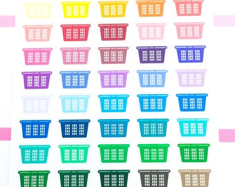 Rainbow Icon - laundry basket Stickers| Planner Stickers, functional stickers, cleaning sticker, house chore sticker, laundry sticker