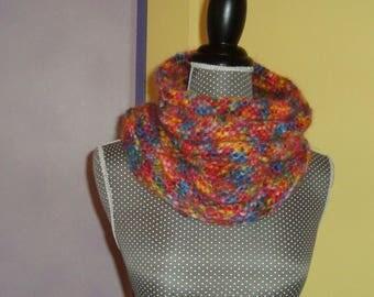 Snood gashes wool mohair multicolor handmade collar Choker