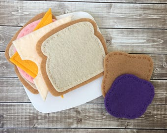 felt sandwich, play food sandwich, felt food sandwich set, pretend play sandwich, dramatic play food