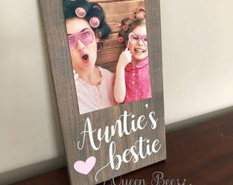 Auntie's Bestie Picture Frame.Auntie's Bestie.Aunt Picture Frame.Aunt Gift Idea.Auntie Frame.Best Aunt Picture Frame.Wall Decor.Gift Idea.