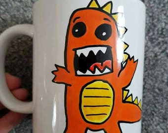 You're Rawsome handpainted Dinosaur Mug, T Rex