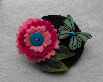 Butterfly Flower Garden Brooch