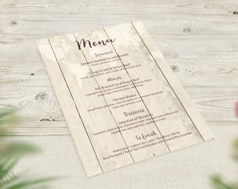 Gold Wedding Menus, Travel Theme Menu, World Map Menu, Rustic Wedding Decor, Boho Menu, Vintage Wedding Stationery, Destination Wedding Menu