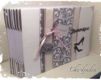 "vintage black and white for wedding or anniversary guest book """" Dominique"""