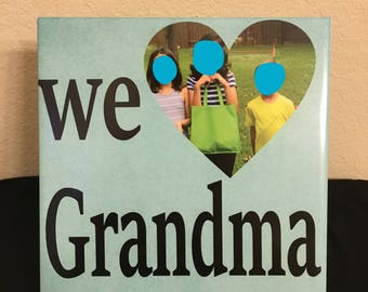 Custom 8x8 Ceramic Tile - We Love Grandma