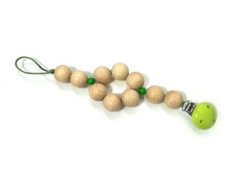 Pacifier clip, natural pearls
