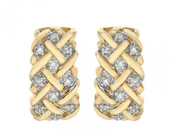 0.20 Carat Diamond Earrings 10K Yellow Gold