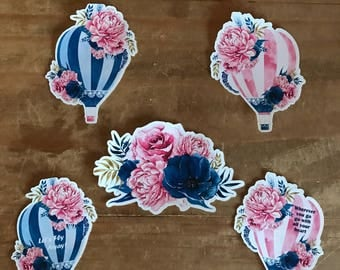 Hot air ballon die cuts