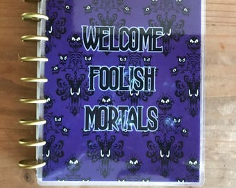 Classic Happy planner covers. Haunted Mansion theme. Mini happy planner covers. Laminated with 10ml laminate.