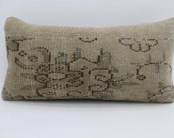 12x24 Pillow Covers Turkish Carpet Pillow Floral Pillow Bohoemian Pillow 30x60 cm Green Pilllow  Throw Pillow Sofa Pillow SP3060-1664