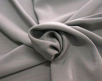 305186-Crepe marocaine Natural Silk 100%, width 130/140 cm, made in Italy, dry cleaning, weight 215 gr