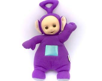 Vintage Teletubbies Tinky-Winky Purple Teletubby Plush Stuffed Doll 1990's 90s Cartoons Soft Retro Original TV Show Tinkey-Winkey Talking