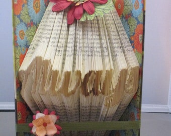 Always book fold, book lovers gift, book folding, always, romantic book fold