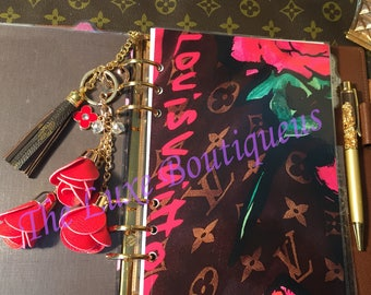 New Brown Scarf with Hot Pink Script Dashboard Laminate- DOUBLE SIDED! Gm, Mm, Pm