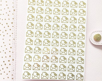 Foil Letter/Mail/Envelope Stickers | Planner Stickers