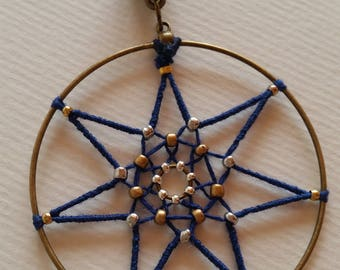 Pendant Wicca seven point star.