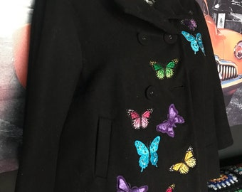 One of a Kind Customised Floral Winter Jacket