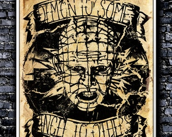 Vintage Demon To Some - A4 Signed Art Print (Inspired by Hellraiser)