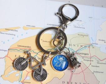 Delfts blauw sleutelhanger  6 keuzes  dragon Made in  Holland collectie