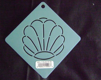 Sashiko Japanese Embroidery Stencil 3 in. Shell Motif Block/Quilting