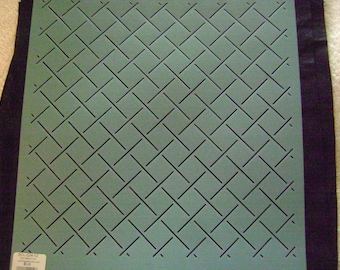 Sashiko Japanese Embroidery/Traditional Quilting Stencil 1 in. by 1 in. Square Grid Background/Quilting
