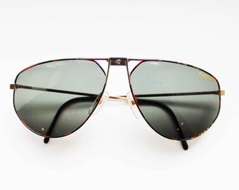 Authentic, vintage Carrera multicolour Aviator sunglasses