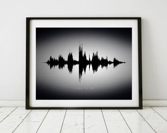 Custom Sound Wave Art on Canvas, Sound Wave Art Print, Custom Soundwave, Voice Art, Song Art, Sound Art, Techie, Tech Gift, Engineer Gifts