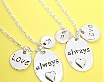 Best friend necklace, Always necklace, always harry potter pendant, personalized, custom, initial,monogram,always in my heart, harry potter