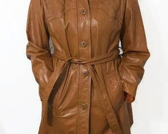 Beautiful Women's Jacket, Brown Leather Jacket, by Suburban Heritage Size 14 But Runs Smaller