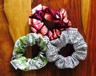 Ready / Trio ponytail / scrunchies / gift her / stocking stuffer / Christmas stockings gift / gift for her.