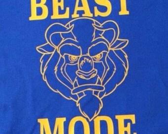 blue beast mode tee