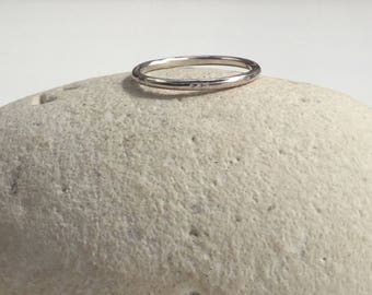 Silver Stacking Ring, Silver Ring, Minimalist Ring, Sterling Silver Ring, Boho Ring, Stacking Ring, Midi Ring