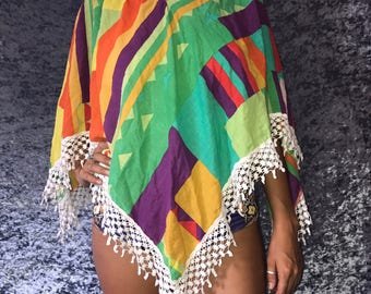 Color Pop Poncho