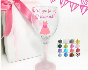 Will you be my bridesmaid wine glasses, will you be my bridesmaid gift, bridemaid proposal gift, be my bridemaid gift, ask bridesmaids