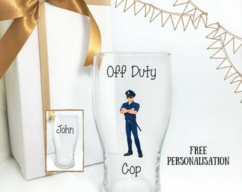Police gifts, police wine glass, police academy graduation gifts, police retirement gifts, police officer gifts, police graduation gift