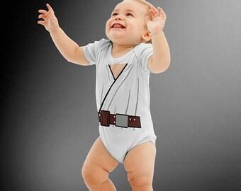 SALE TODAY Luke Skywalker Inspired Star Wars Costume Onesie | Halloween Costume | Kids Cosplay | Baby Shower Gift | Star Wars | Skywalker