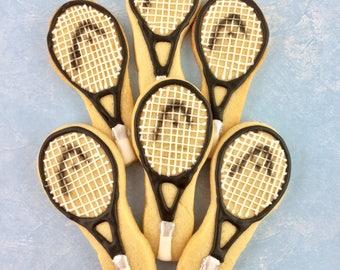 Tennis Racket And Balls Sugar Cookies Set Tennis Cookies