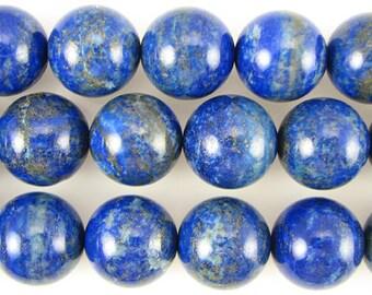 A+ 20mm lapis lazuli round beads 2pcs 11032