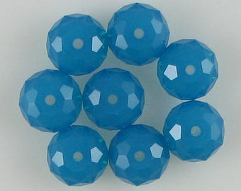 8 8mm Swarovski crystal rondelle 5040 C. Blue Opal 10310