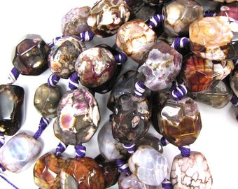 "14-16mm purple agate nugget beads 7"" strand 30754"