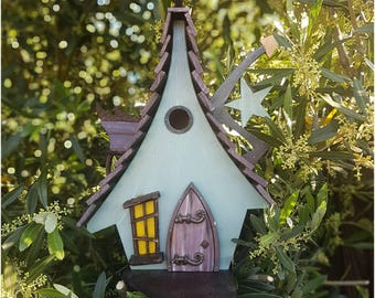 Wicked Witch birdhouse/bird house/handmade /Garden art /bird houses /birdhouses