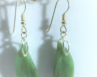 Earrings - Chrysoprase / Agate