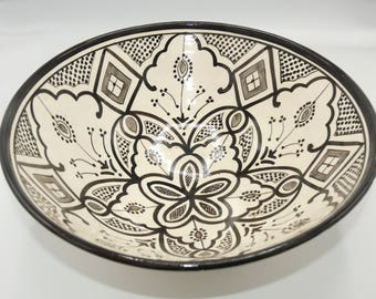 Moroccan Oriental ceramic dish bowl Fruit salad Cereal Ø 35 CM model Nihal