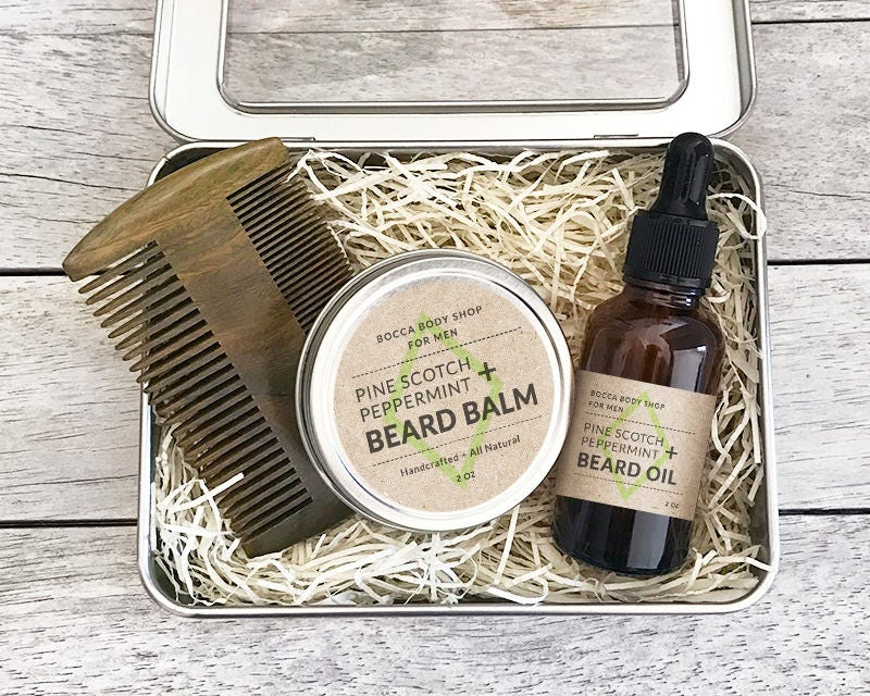 beard grooming set beard kit beard oil gift set beard balm. Black Bedroom Furniture Sets. Home Design Ideas