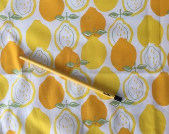 Juicy Lemons quilting-weight cotton -  1 YARD