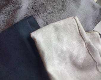 mix coupons suede: black and grey 40x25cm of each